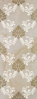 Porcelanite Dos 1331 +23954 Декор керамич. DECOR.1331 BEIGE DAMASCO, 48x128